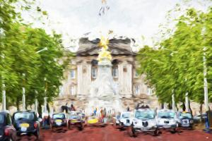 London Taxis - In the Style of Oil Painting by Philippe Hugonnard