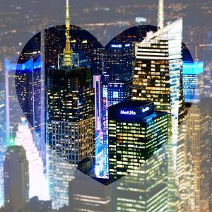 Love NY Series - Buildings of Times Square by Night - Manhattan - New York - USA by Philippe Hugonnard