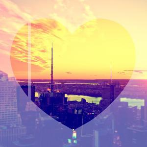Love NY Series - Landscape of Manhattan at Sunset - New York - USA by Philippe Hugonnard