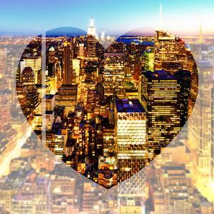 Love NY Series - Manhattan at Night - New York - USA by Philippe Hugonnard