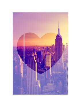 Love NY Series - Manhattan at Sunset - The Empire State Building - New York - USA by Philippe Hugonnard