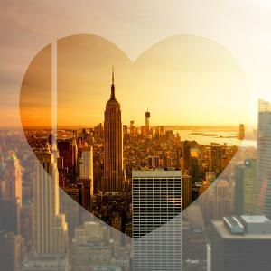 Love NY Series - Manhattan at Sunset with the Empire State Building - New York - USA by Philippe Hugonnard