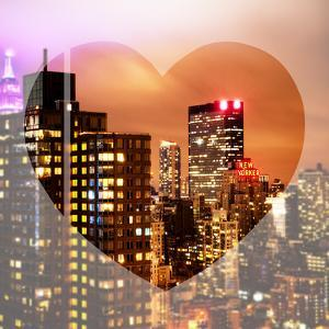 Love NY Series - Manhattan Cityscape at Night with the New Yorker Hotel - New York - USA by Philippe Hugonnard