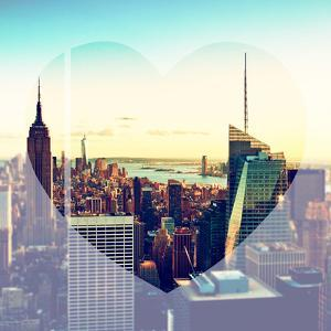 Love NY Series - Manhattan Skyline with the Empire State Building - New York City - USA by Philippe Hugonnard
