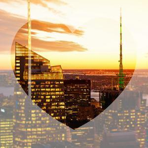 Love NY Series - Manhattan Skyscrapers Peaks at Sunset - Times Square - New York - USA by Philippe Hugonnard
