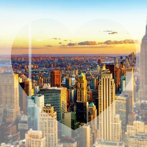 Love NY Series - New York City at Sunset - Manhattan - USA by Philippe Hugonnard