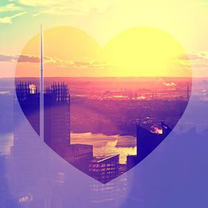 Love NY Series - Skyline of Manhattan at Sunset - New York - USA by Philippe Hugonnard