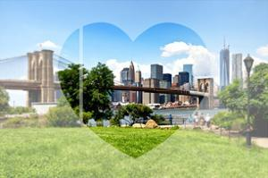 Love NY Series - Skyline of Manhattan with the Brooklyn Bridge - New York - USA by Philippe Hugonnard