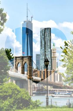 Love NY Series - The Brooklyn Bridge and 1WTC - Manhattan - New York - USA by Philippe Hugonnard