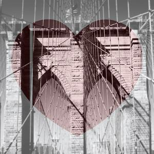 Love NY Series - The Brooklyn Bridge - Manhattan - New York - USA - B&W Photography by Philippe Hugonnard