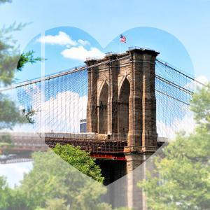Love NY Series - the Brooklyn Bridge - Manhattan - New York - USA by Philippe Hugonnard