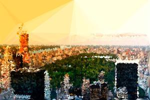 Low Poly New York Art - Central Park at Sunset by Philippe Hugonnard