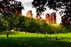 Low Poly New York Art - Central Park Summer by Philippe Hugonnard