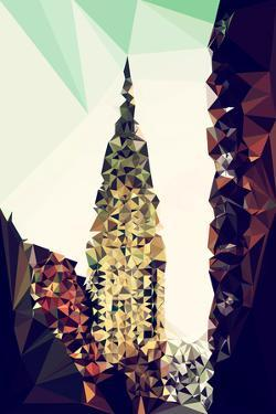 Low Poly New York Art - Chrysler Building III by Philippe Hugonnard