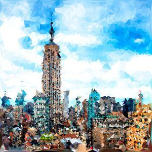 Low Poly New York Art - Empire State Building II by Philippe Hugonnard