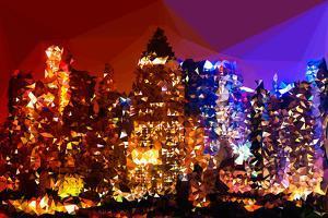 Low Poly New York Art - Manhattan Lights by Philippe Hugonnard