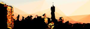Low Poly New York Art - Manhattan Silhouettes by Philippe Hugonnard