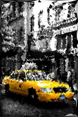 Low Poly New York Art - Manhattan Taxi by Philippe Hugonnard