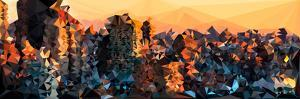 Low Poly New York Art - New York Sunset by Philippe Hugonnard