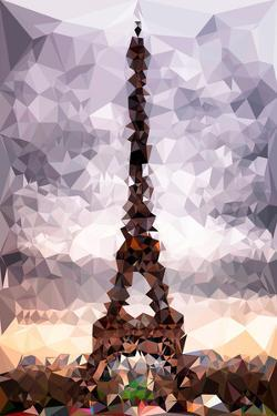 Low Poly Paris Art - Eiffel Tower by Philippe Hugonnard