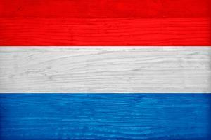 Luxembourg Flag Design with Wood Patterning - Flags of the World Series by Philippe Hugonnard