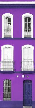 Made in Spain Slim Collection - Purple Facade of Traditional Spanish Building by Philippe Hugonnard