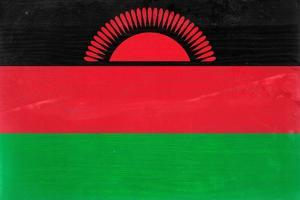 Malawi Flag Design with Wood Patterning - Flags of the World Series by Philippe Hugonnard