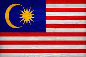 Malaysia Flag Design with Wood Patterning - Flags of the World Series by Philippe Hugonnard