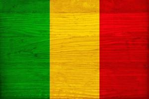 Mali Flag Design with Wood Patterning - Flags of the World Series by Philippe Hugonnard