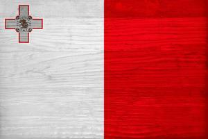 Malta Flag Design with Wood Patterning - Flags of the World Series by Philippe Hugonnard