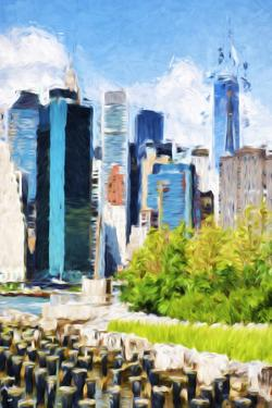 Manhattan Architecture III - In the Style of Oil Painting by Philippe Hugonnard