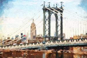 Manhattan Bridge II - In the Style of Oil Painting by Philippe Hugonnard