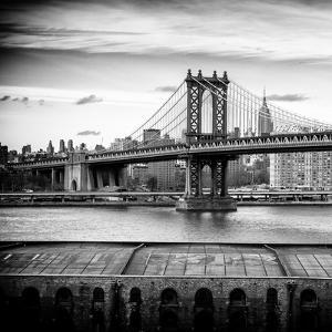 Manhattan Bridge with the Empire State Building from Brooklyn by Philippe Hugonnard