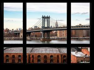 Manhattan Bridge with the Empire State Building - New York, USA by Philippe Hugonnard