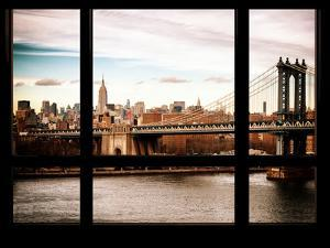Manhattan Brige with the Empire State Building - NY Cityscape - Manhattan, New York, USA by Philippe Hugonnard