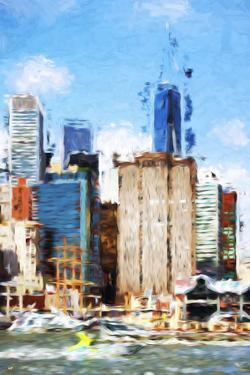Manhattan Buildings V - In the Style of Oil Painting by Philippe Hugonnard