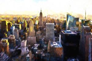 Manhattan Cityscape III by Philippe Hugonnard