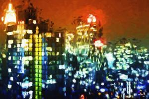 Manhattan Colors Night - In the Style of Oil Painting by Philippe Hugonnard