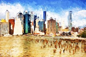Manhattan Island II - In the Style of Oil Painting by Philippe Hugonnard