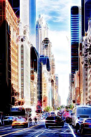 Manhattan Shine - Traffic in New York by Philippe Hugonnard