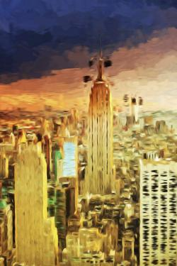 Manhattan Skyline II - In the Style of Oil Painting by Philippe Hugonnard