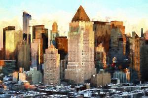 Manhattan Sunset Architecture by Philippe Hugonnard
