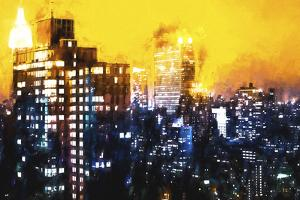Manhattan Yellow Night by Philippe Hugonnard