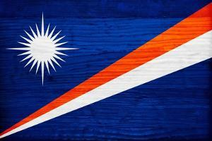 Marshall Islands Flag Design with Wood Patterning - Flags of the World Series by Philippe Hugonnard