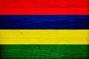 Mauritius Flag Design with Wood Patterning - Flags of the World Series by Philippe Hugonnard