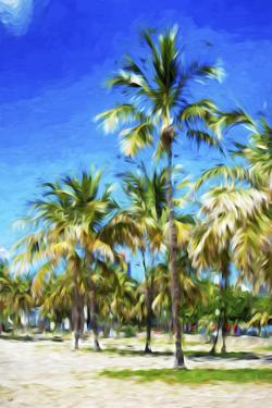 Miami Beach III - In the Style of Oil Painting by Philippe Hugonnard