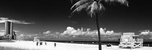 Miami Beach with Life Guard Station - Florida - USA by Philippe Hugonnard