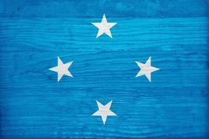 Micronesia Flag Design with Wood Patterning - Flags of the World Series by Philippe Hugonnard