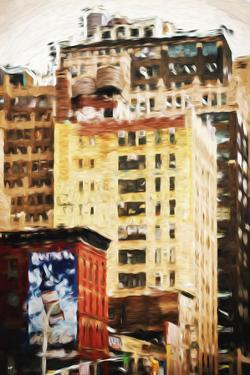 Midtown Buildings - In the Style of Oil Painting by Philippe Hugonnard