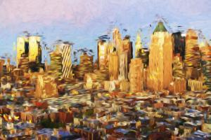 Midtown Manhattan - In the Style of Oil Painting by Philippe Hugonnard